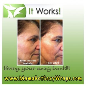 Results from facial applicators.