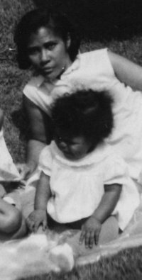 My friend Monica when she was a baby with her grandma.