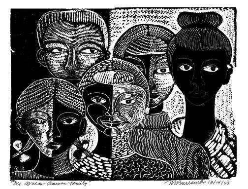 Print by Dr. Margaret Burroughs